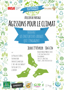 Atelier Etudiants Eco-Citoyens Climat 19 février 2015 INSA LYON